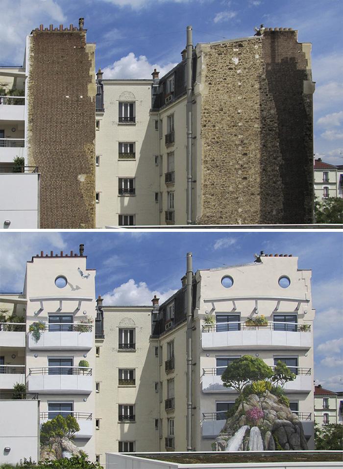 French Artist Transforms Boring City Walls Into Vibrant Scenes Full Of Life - Aquarium