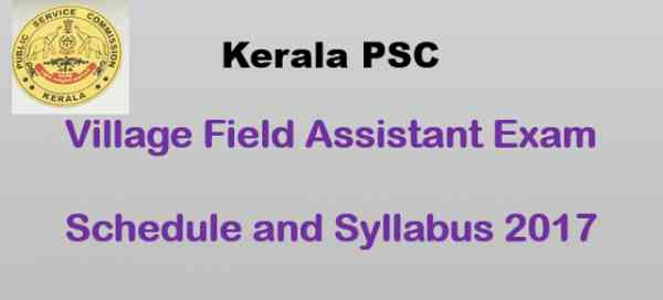 Village Field Assistant - Detailed Syllabus and Time Table