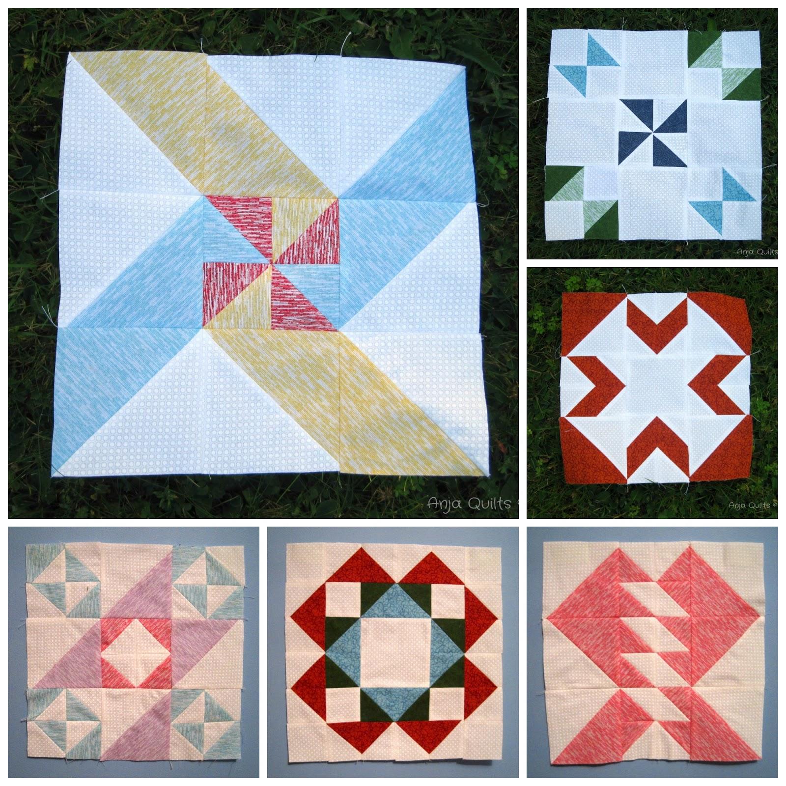 Anja quilts modern hst sampler q3 blocks for Modern house quilts