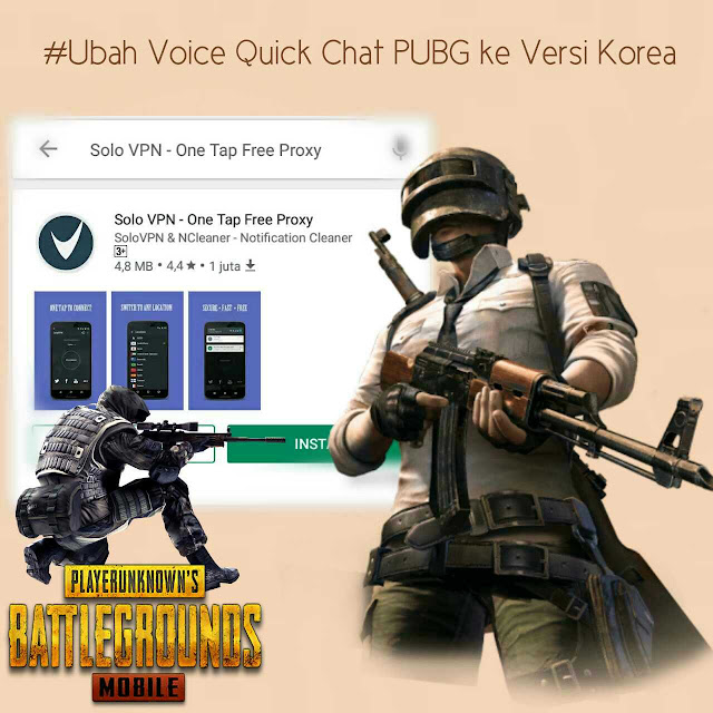 ubah voice quick chat pubg ke bahasa korea