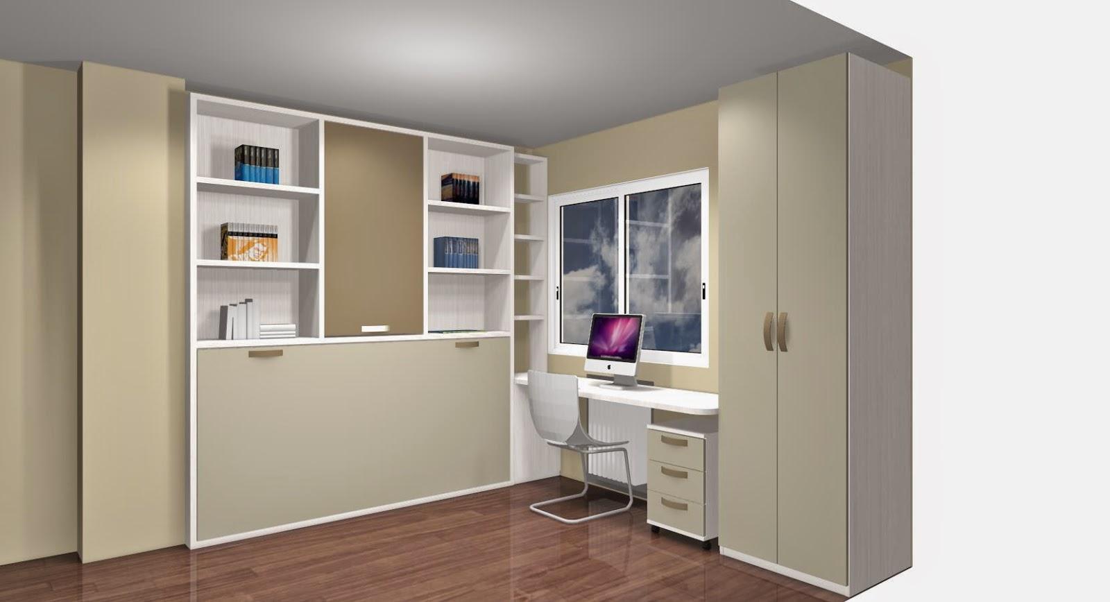 como ahorrar espacio con camas abatibles para habitaciones