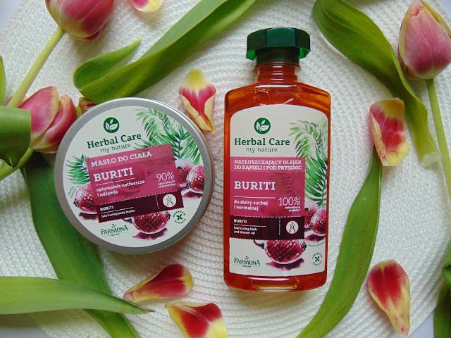 Farmona Laboratorium - Herbal Care - Natłuszczający olejek  i masło do ciała z linii Buriti