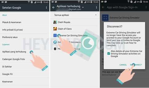 Menghapus Aplikasi Terhubung Android