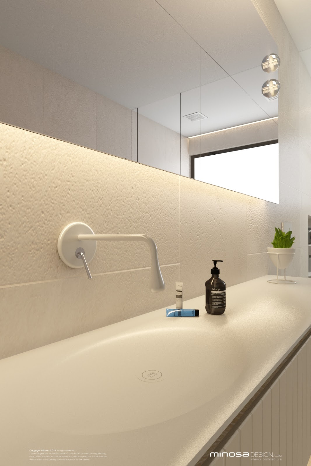 Minosa bathroom design less is more for Bathroom items that start with g