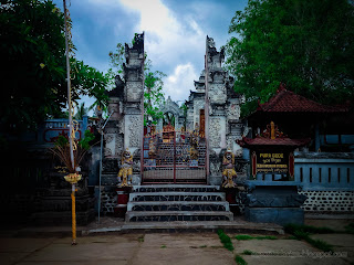 Old And Art Balinese Hindu Temple Of The Village At Patemon Village, North Bali, Indonesia