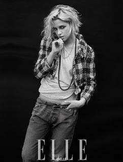 Kristen Stewart does stunning fashion photo spread for China's ELLE magazine. See photos at JasonSantoro.com