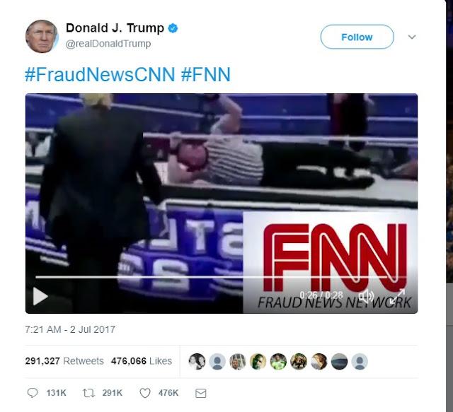 Trump's Anti-CNN Video Creator Is Reddit User Who Sees Trump As His God Emperor