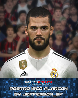 PES 2017 Faces Isco by FaceEditor Jefferson_SF