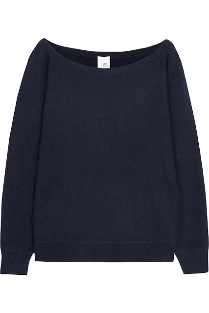 Iris and ink off the shoulder cashmere sweater