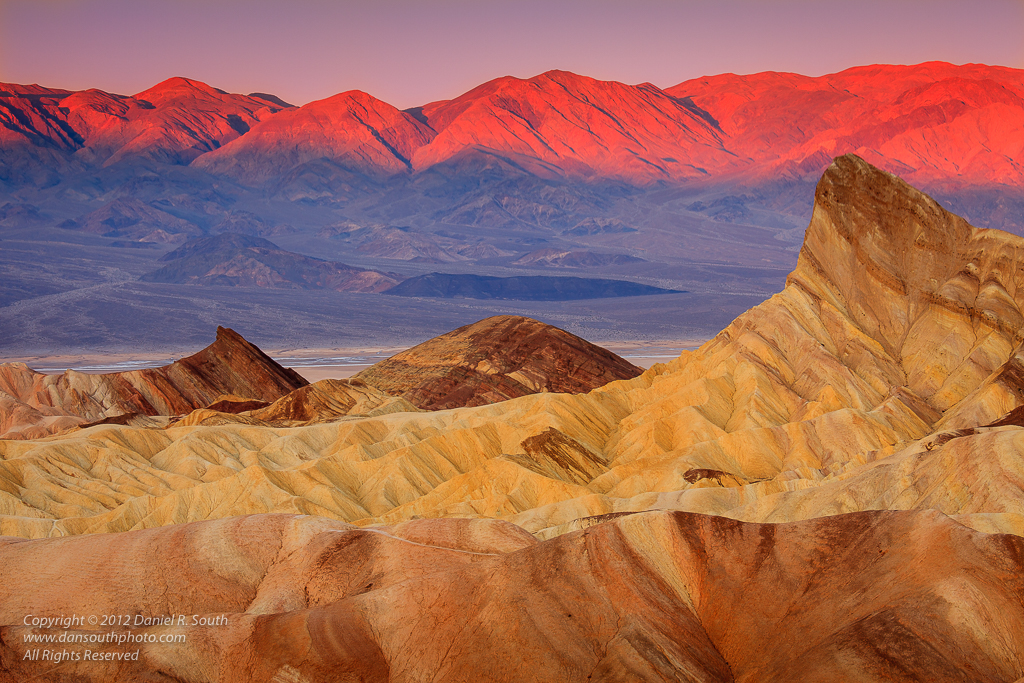 a photo of Zabriskie Point at First Light - Death Valley National Park