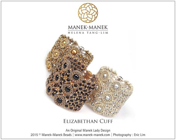 Beautiful Beaded Cuff Tutorial with Swarovski crystals