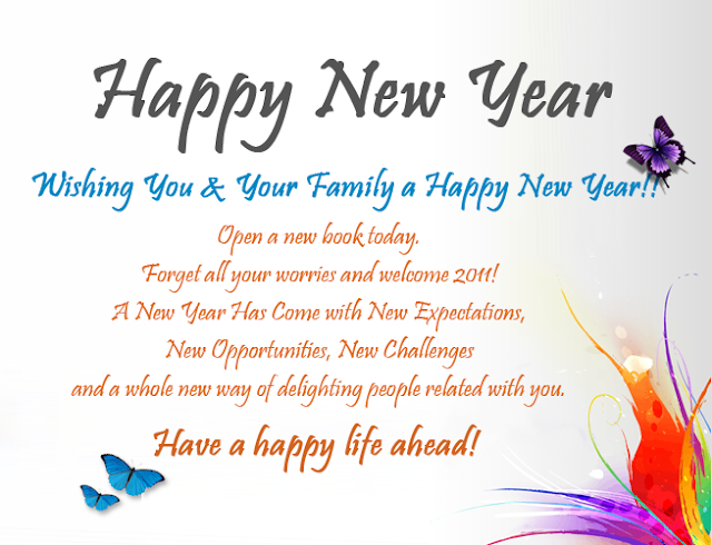 New Year Wishes For Facebook Whatsapp in English