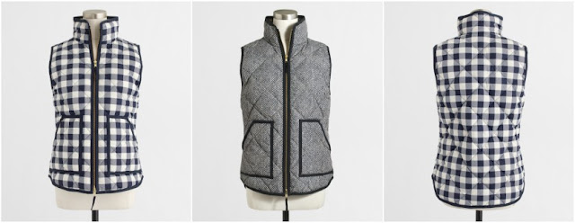 J. Crew Factory Printed Quilted Puffer Vest $40-$50 (reg $98)
