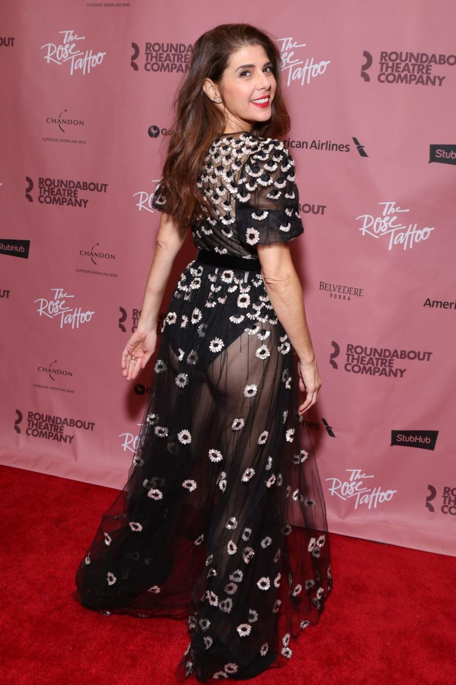 Marisa Tomei Opening Party for The Rose Tattoo in New York