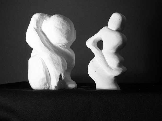 Subtractive Plaster Sculpture