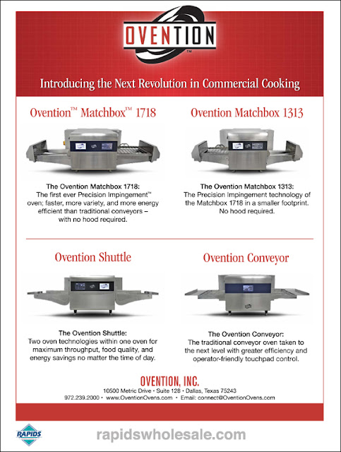 Ovention Ovens at Rapids Wholesale
