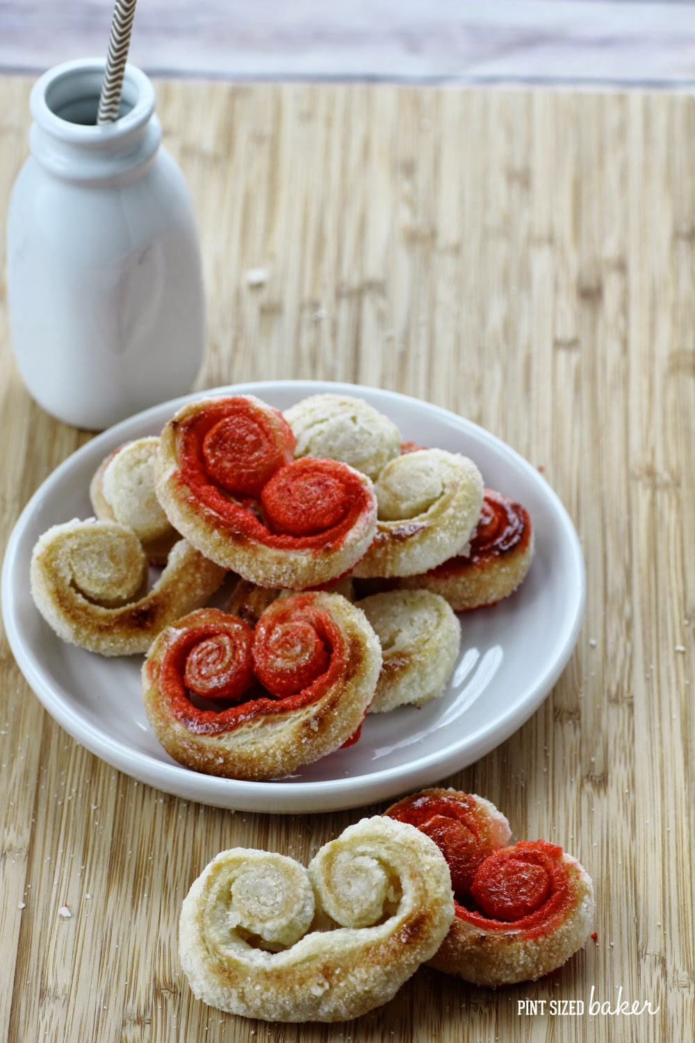 Great way to add some holiday spirit, use colored sugar in your Palmier Cookies! Awesome Idea!