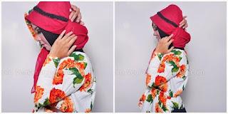 Hijab Tutorial : Cantik Mewah Berkerudung Merah 4