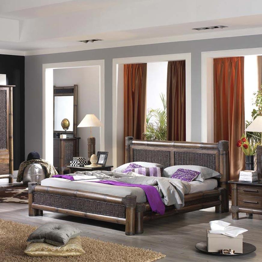 lit bambou rotin de haut gamme t te de lit. Black Bedroom Furniture Sets. Home Design Ideas