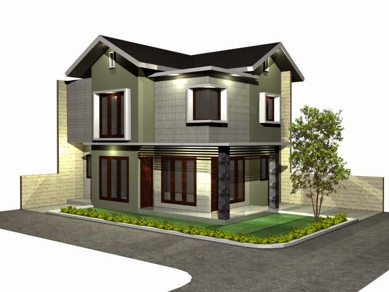 Desain rumah hook minimalis 2 lantai