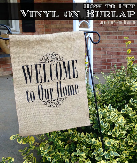 HTV on Burlap Tutorial: The Easiest Way Do It! (And a Giveaway)