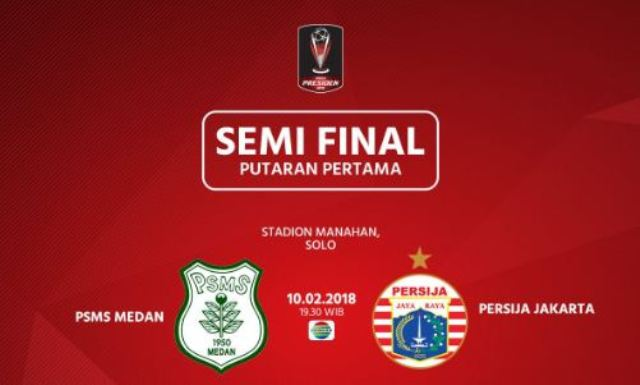 Panpel PSMS vs Persija Siapkan 23 Ribu Tiket - Semifinal Piala Presiden 2018