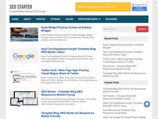 SEO Starter - Template Blog SEO Friendly Gratis