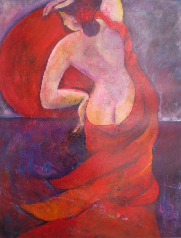 Красная луна. Renate van Nijen