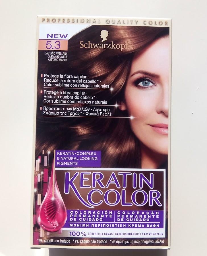 Schwarzkopf - Tinte Keratin Color 5.3 Castaño Avellana