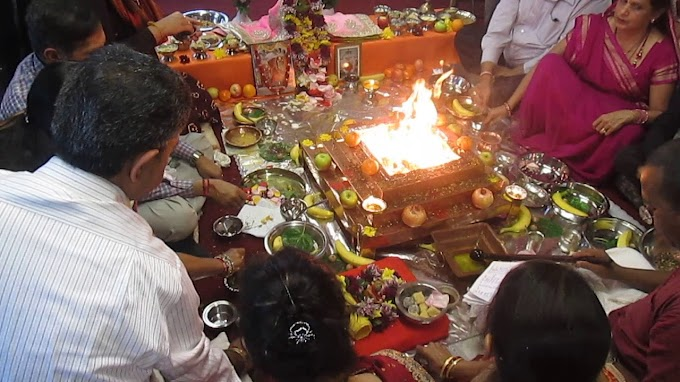 Zimbabwe Hindus performing collective fire sacrifice for world peace & prosperity
