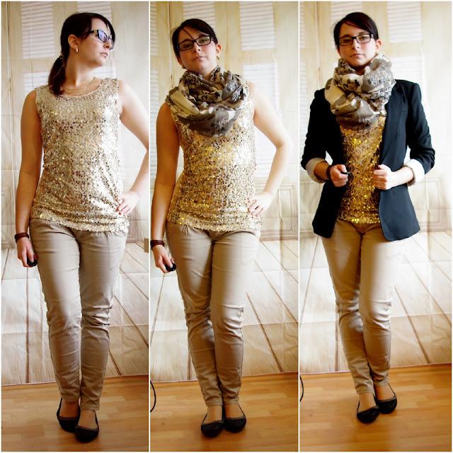 [Fashion] Glitter Everywhere! Glitzer Top & Blazer