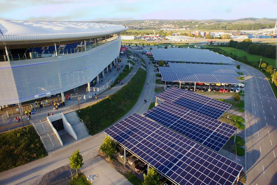 rhein necker arena hoffenheim pannelli solari