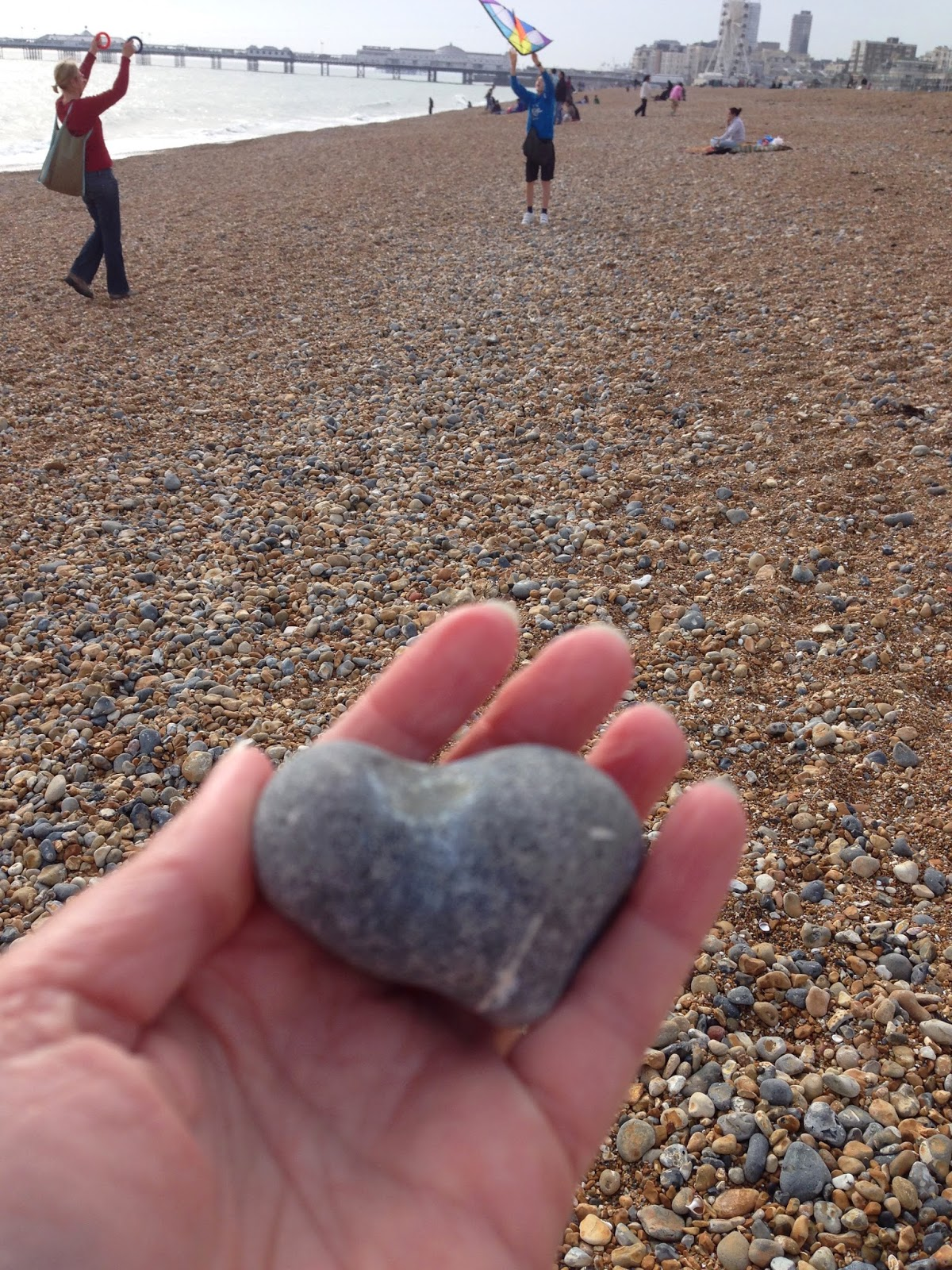 Brighton beach heart #heartsfoundallovertheplace