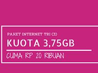 Paket Tri 4G LTE Tri 3.75GB Cuma 20 ribu (1,75GB + 2GB 4G berlaku 7 hari), Caranya Begini?