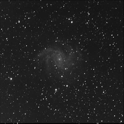 Firework spiral galaxy sans supernova