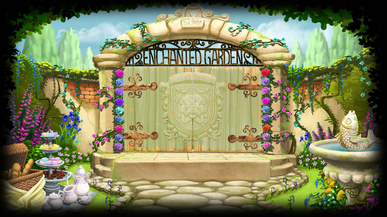 Enchanted Garden: Enchanted Garden Wallpaper