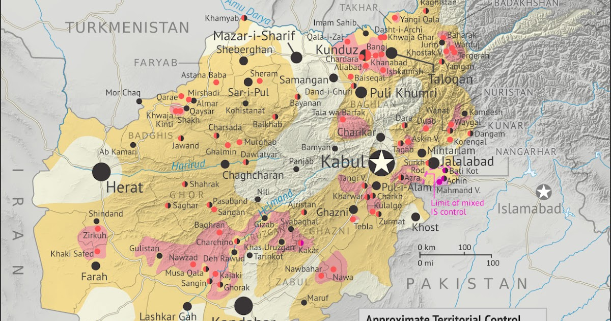 2015 in Afghanistan: Map of Taliban and \