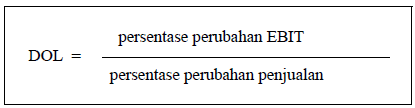 Rumus Leverage Operasi (operating leverage)