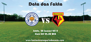 Data dan fakta Fantasy Premier League Leicester City vs Watford Fantasi Manager Indonesia