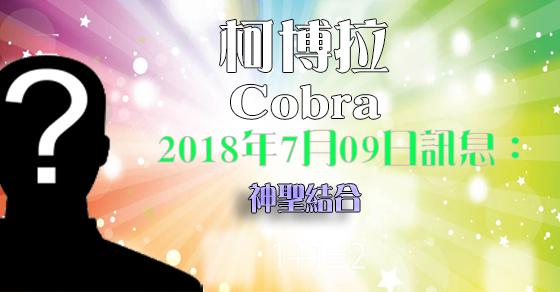 [揭密者][柯博拉Cobra]2018年7月8日訊息:神聖結合