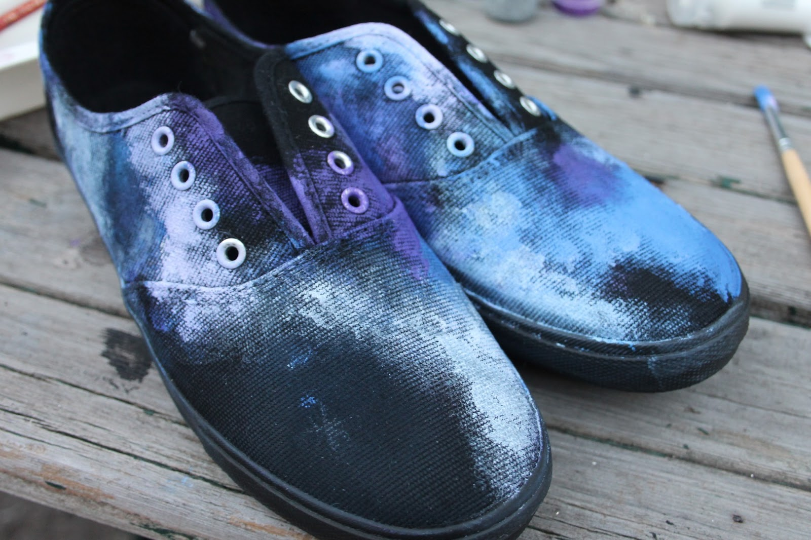 The Fashion Lookout Diy Galaxy Shoes