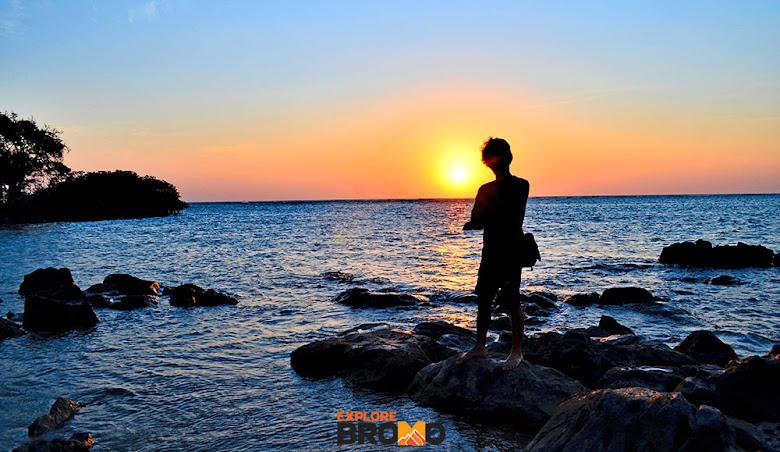 sunrise cantik di pantai Bama