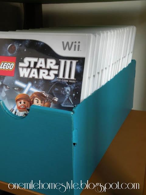 Video game storage using a shoebox