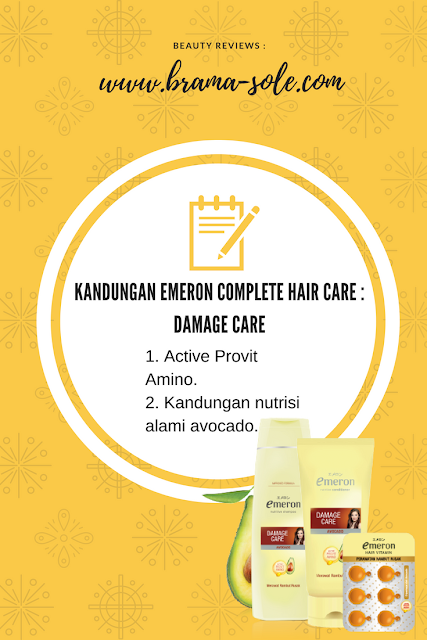 emeron damage hair care dengan provit amino