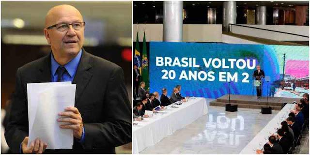 Artigo Romanelli: O slogan de Temer é aquele sem a vírgula: O Brasil voltou 20 anos em 2!