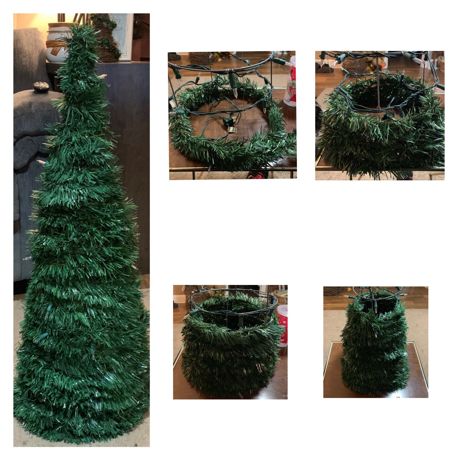 Christmas Trees Made From Tomato Cages: Tomato Cage Small Christmas Tree {DIY} Dollar Tree