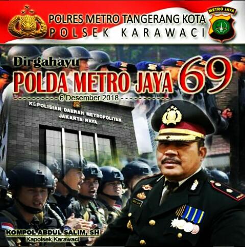 HUT yang ke- 69 Polda Metro Jaya Semakin Promoter ; Kata Kapolsek Karawaci