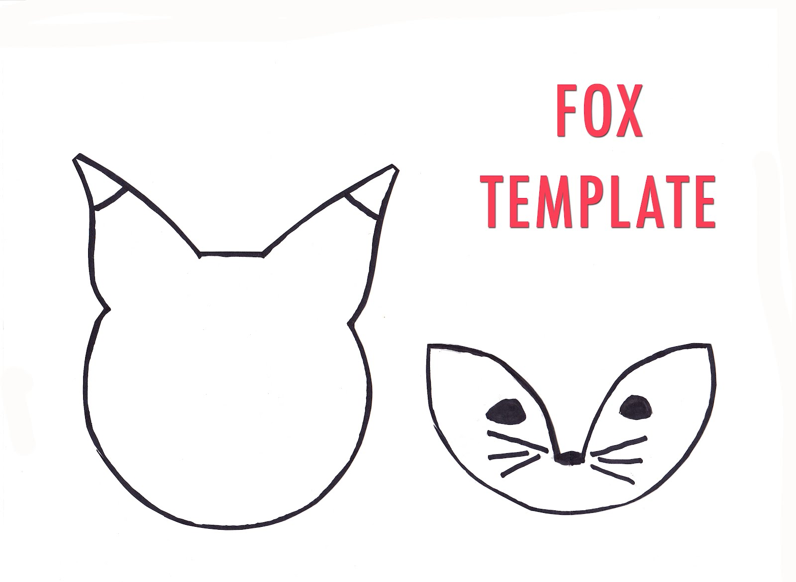 Nest fox template for Template of a fox