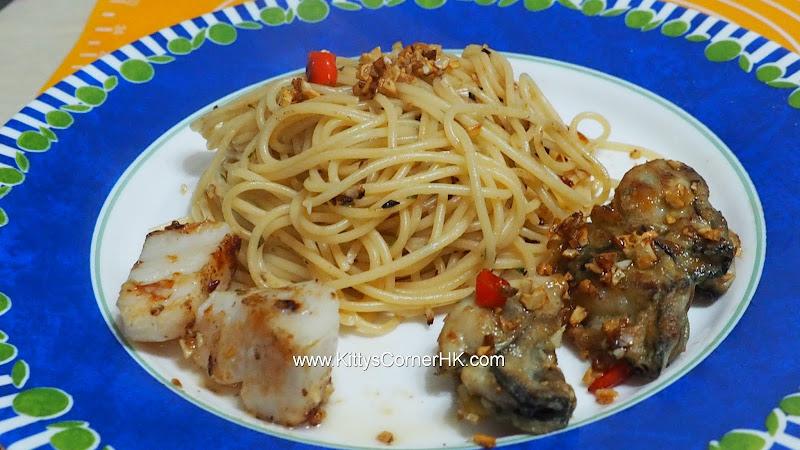 Lemongrass Oyster Spaghetti 香茅牡蠣意粉 自家食譜 home cooking recipes