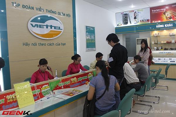 Thời gian làm việc của cửa hàng, trung tâm Viettel trên toàn quốc